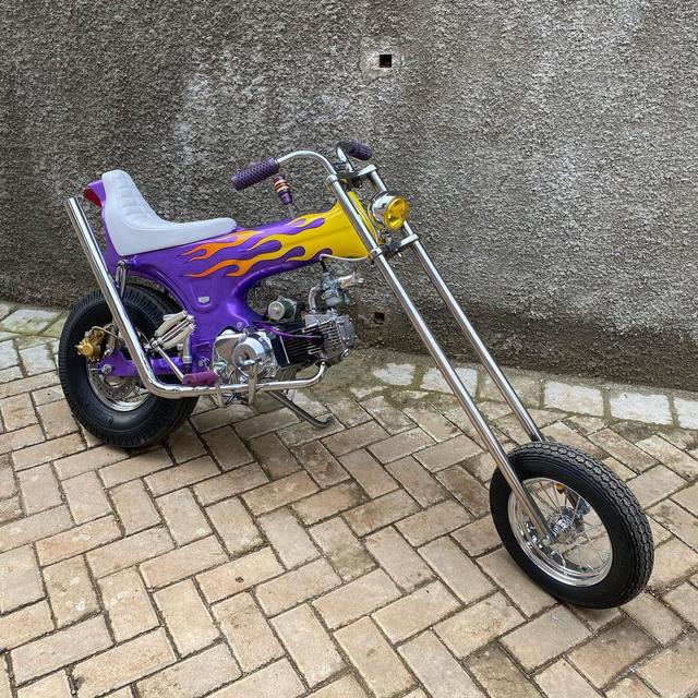 Rombak Replika Motor Mungil Honda Dax Jadi Chopper (369055)