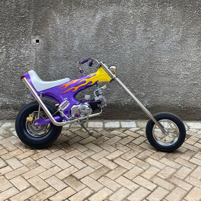 Rombak Replika Motor Mungil Honda Dax Jadi Chopper (369059)