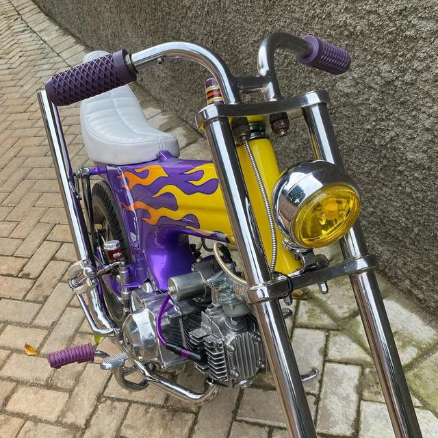 Rombak Replika Motor Mungil Honda Dax Jadi Chopper (369057)