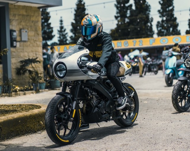 Modal Rp 5 Jutaan, Tampang Yamaha XSR 155 Dirombak Jadi BMW R nineT Racer (115334)