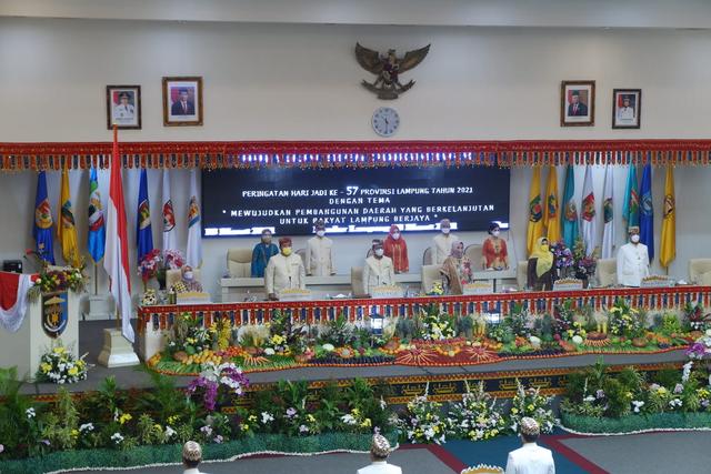 HUT Lampung ke-57, Gubernur Minta Sinergi Semua Pihak dalam Pemulihan Ekonomi (128831)