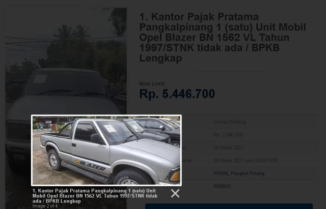 3 Mobil Rp 5 Jutaan di Balai Lelang Negara, Ada SUV Amerika! (178147)