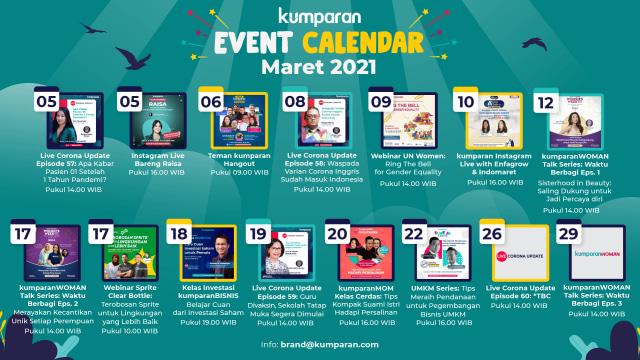 kumparan Event Calendar | Maret 2021 (38461)