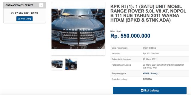 KPK Lelang 3 Mobil Mewah, Ada MINI Cooper hingga Hummer H2! (175773)