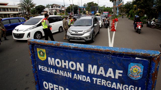 Korlantas Tambah Pos Penyekatan Larangan Mudik Jadi 381, Dari Palembang-Bali (114729)