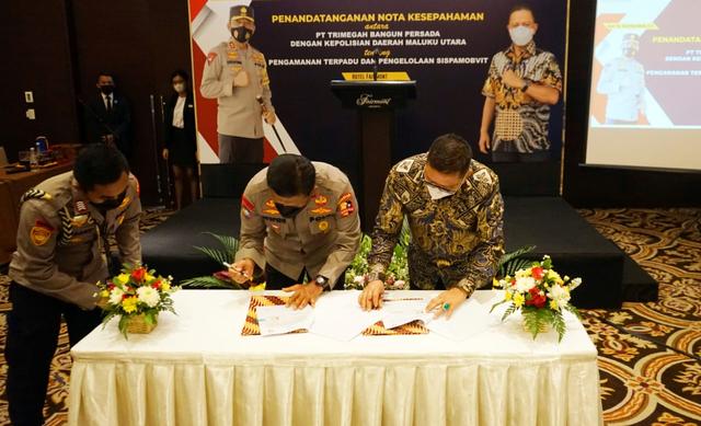 Pengamanan Objek Vital Nasional, Polda Malut dan Harita Nickel Teken MoU (122063)