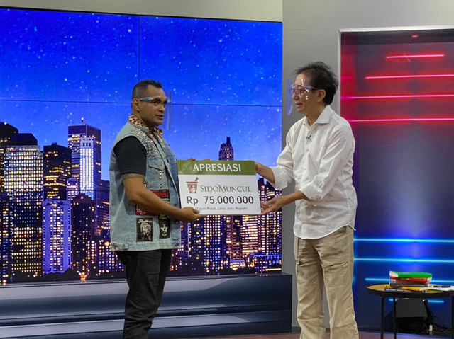 Hadir di Kick Andy Show, Sido Muncul Berikan Ratusan Juta Rupiah ke Local Hero (357701)
