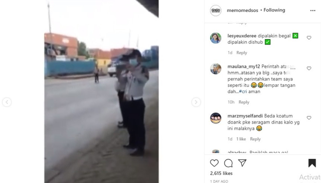 Video Petugas Dishub Mendadak Kabur saat Direkam Sopir Truk Trailer (57303)