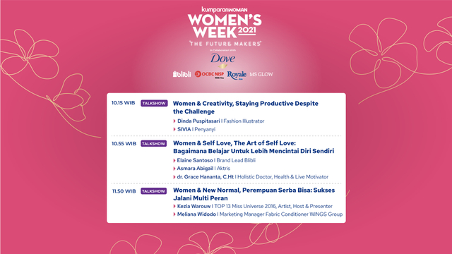 Live Now! Virtual Conference Women's Week 2021 (76005)