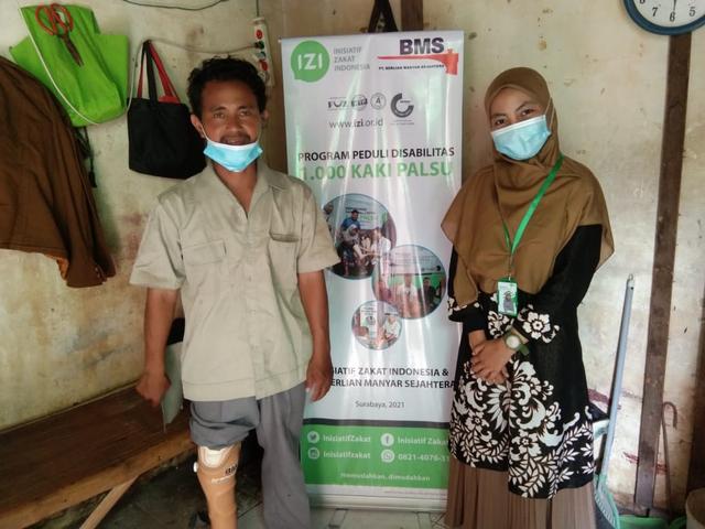 Sinergi PT. BMS dan IZI Salurkan Kaki Palsu Gratis untuk Penyandang Disabilitas (552863)