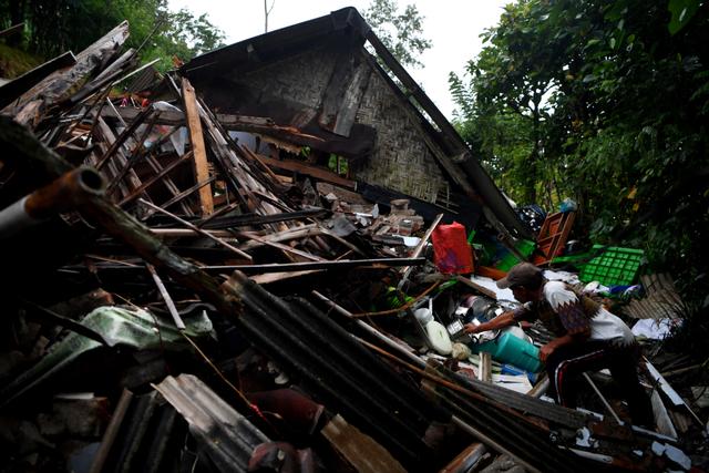 Foto: Kondisi Rumah Warga di Lumajang yang Porak Poranda Akibat Gempa (458190)
