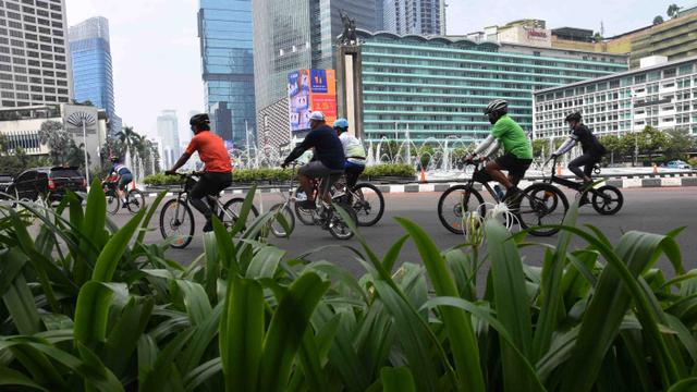 Foto: Pengguna Sepeda di Jakarta Meningkat Tiap Akhir Pekan (664774)