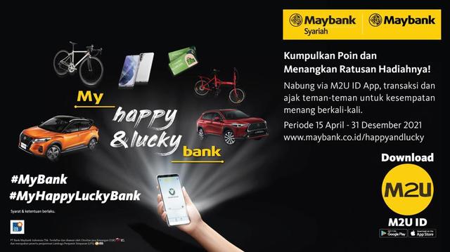 Dorong Semangat Menabung, Maybank Luncurkan Program My Happy & Lucky Bank (431317)