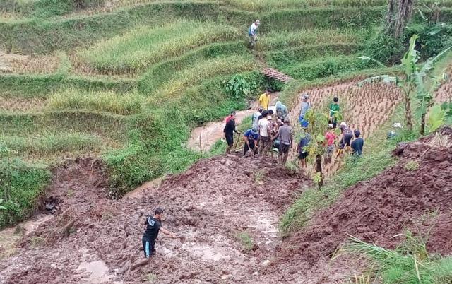 Seorang Warga di Bandung Meninggal Tertimbun Longsoran Tebing Sawah (568983)