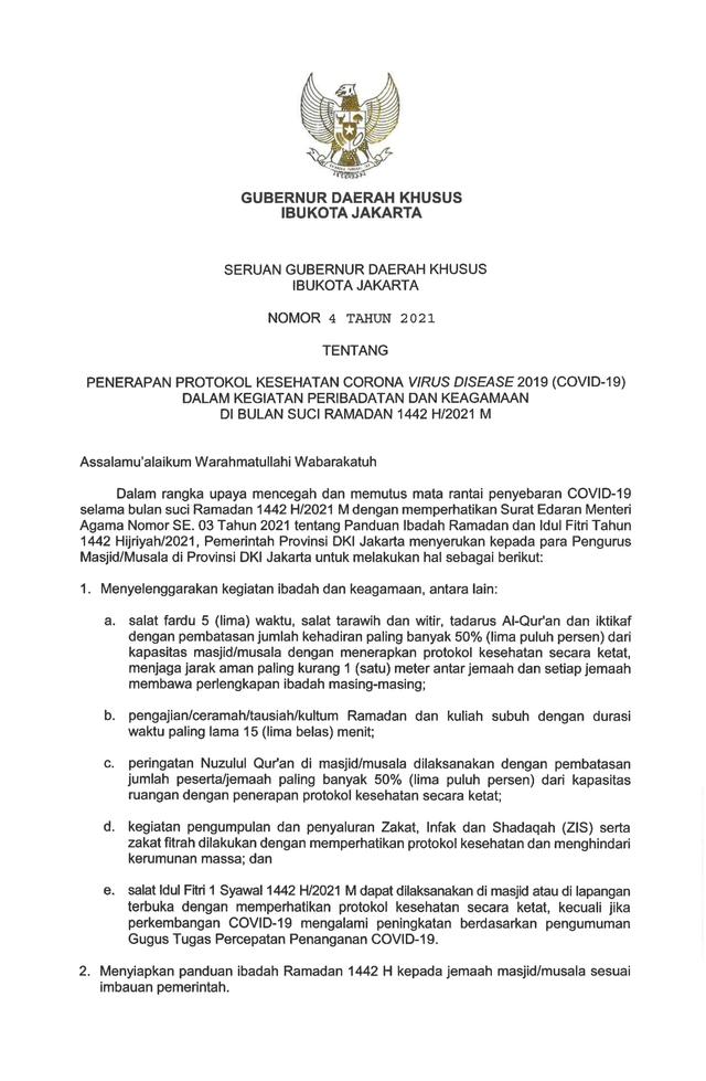 Anies Batasi Durasi Tadarus, Ceramah, Kultum Maksimal 15 Menit di Ramadhan 2021 (3)