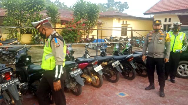 Balap Liar di Tolitoli, Sulteng, 7 Sepeda Motor Diamankan Polisi (414549)
