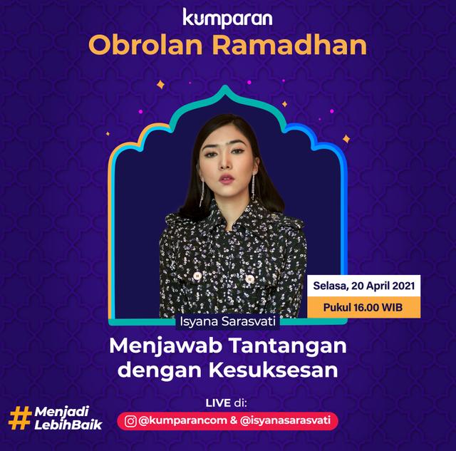 Live Now! Obrolan Ramadhan Bersama Isyana Sarasvati di kumparan (446720)