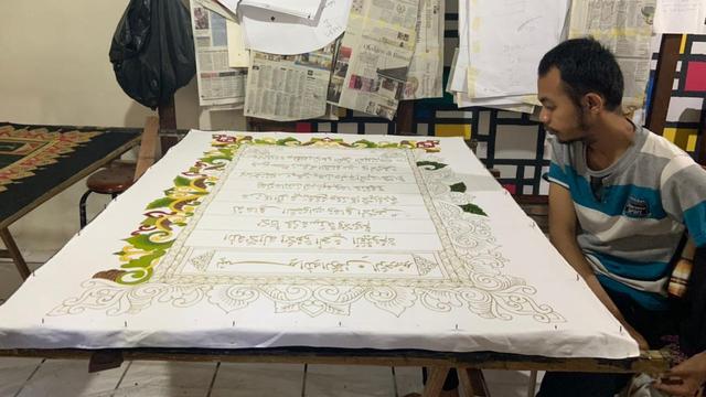Ramadhan, Perajin Difabel di Laweyan Solo Bikin Batik Al-Quran (261196)