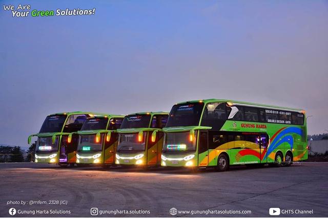 4 Bus Volvo Baru PO Gunung Harta, Ada Double Decker dan Sleeper Seat! (255407)