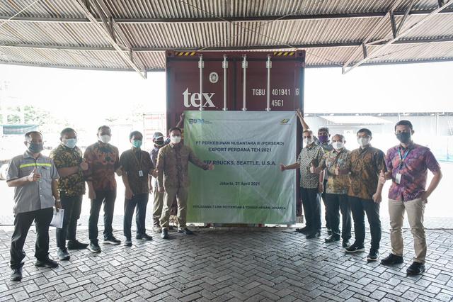 Holding PTPN Ekspor Perdana 176 Ton Teh ke Starbucks di AS (218103)