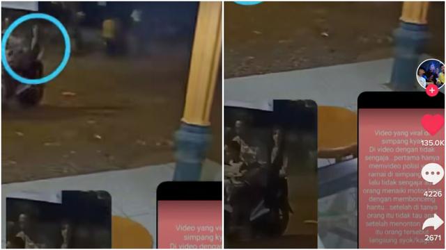 Merinding, Pemotor Terekam Kamera Bonceng Sosok Misterius Diduga Kuntilanak (81863)