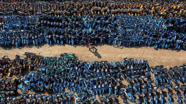 Foto: Potret Gunungan Sepeda Publik di China yang Sekarang Tak Dipakai Lagi (5156)