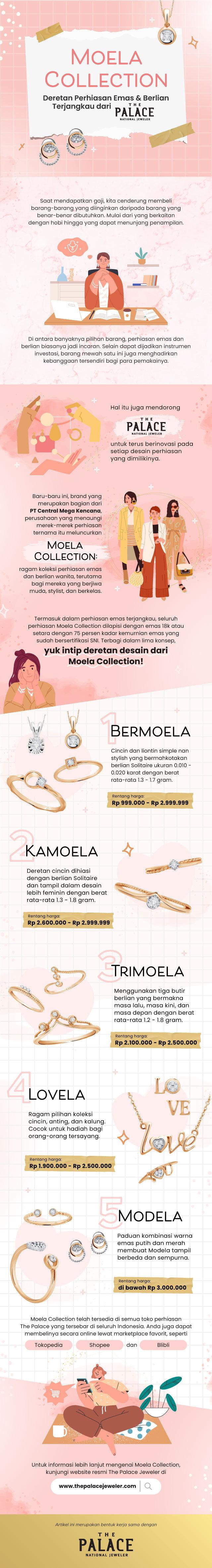 Moela Collection: Deretan Perhiasan Emas & Berlian Terjangkau dari The Palace (65655)