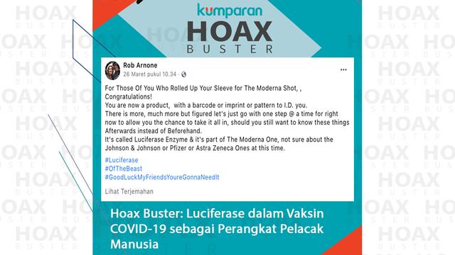 Hoaxbuster: Soal Kandungan Luciferase dalam Vaksin COVID-19 Sebagai Alat Pelacak (671471)