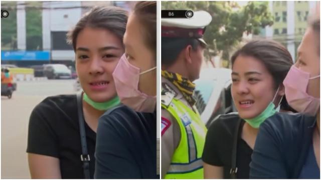 Kena Tilang Polisi, Pemotor Wanita Ini Bikin Salfok Netizen