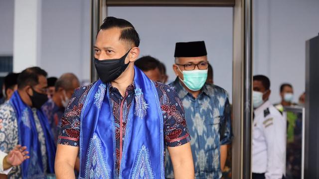 Foto: AHY ke Aceh, Ziarah Makam Tun Sri Lanang, Temu Kader dan Ulama (505582)