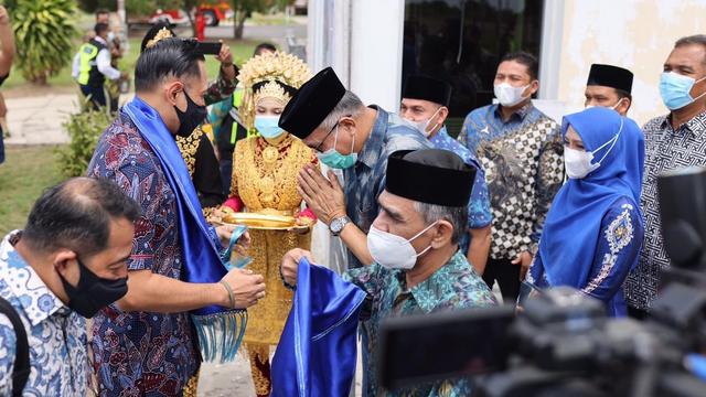 Foto: AHY ke Aceh, Ziarah Makam Tun Sri Lanang, Temu Kader dan Ulama (505583)