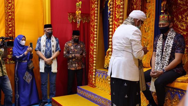 Foto: AHY ke Aceh, Ziarah Makam Tun Sri Lanang, Temu Kader dan Ulama (505586)