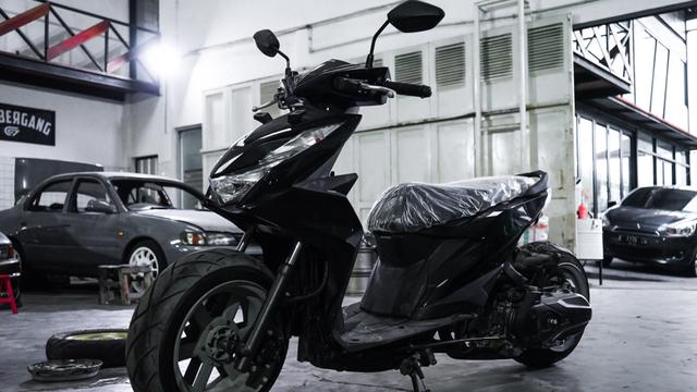 Dirombak Jadi Low Rider, Honda BeAT Ini Disuntik Mesin Turbo (12775)