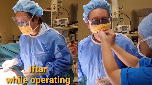 Tuai Pujian, Momen Dokter Buka Puasa saat Sedang Operasi Pasiennya (1061465)