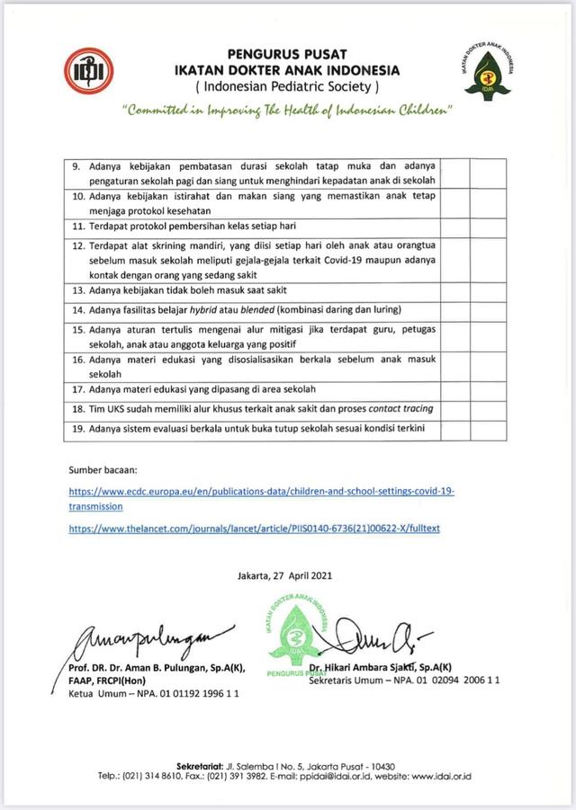 IDAI Ungkap Panduan Sekolah Tatap Muka Apabila Corona Terkendali (4)