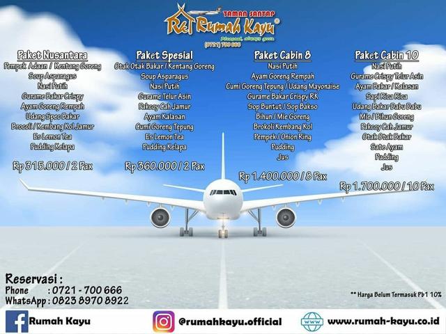 Pertama di Lampung, Rumah Kayu Hadirkan Pengalaman Makan di Dalam Pesawat (650392)