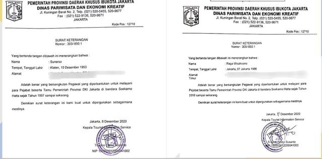 Disparekraf DKI soal 2 Mafia Karantina Punya Kartu dan Surat: Bukan Pegawai Kami (101044)