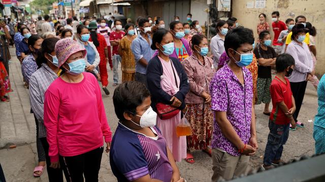 Kamboja Lockdown Ketat, Warga Kelaparan Tuntut Bantuan Pangan dari Pemerintah (110820)