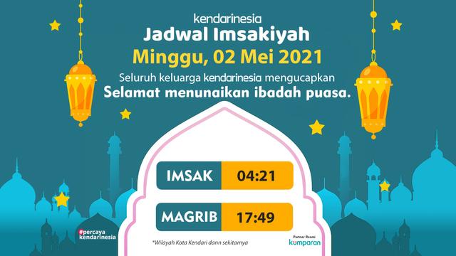Jadwal Imsakiyah Kendari dan Sekitarnya, 2 Mei 2021 (105037)