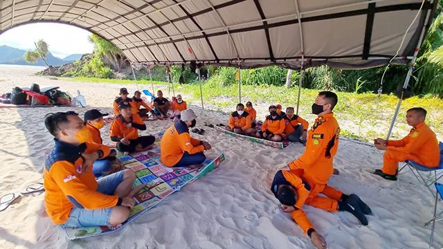 BPBD Kabupaten Sitaro dan Tim SAR Tahuna Latihan Bersama Penanganan Bencana (66694)