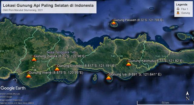 Fakta Geologis Menarik Gunung Api Iya, Gunung Api Aktif Paling Selatan Indonesia (42356)