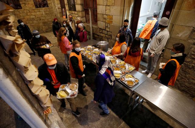 Foto: Suasana Umat Islam Berbuka Puasa di Gereja Santa Anna, Barcelona (134327)