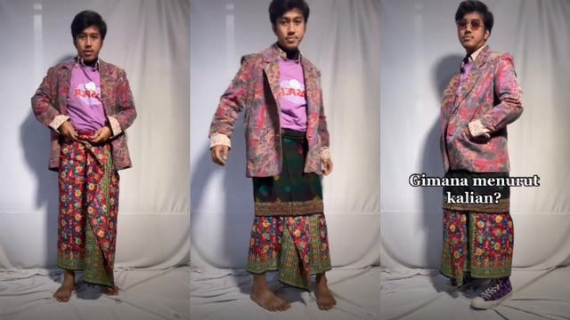 Viral Pria Tirukan Model Gucci Pakai Kain Tradisional Indonesia (45047)