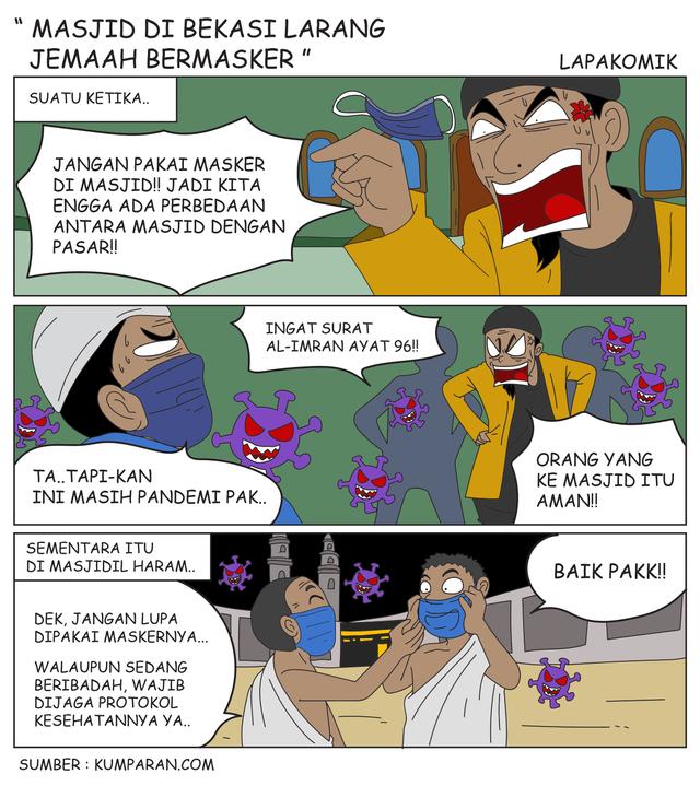 Komik: Masjid di Bekasi Larang Jemaah Bermasker (51277)