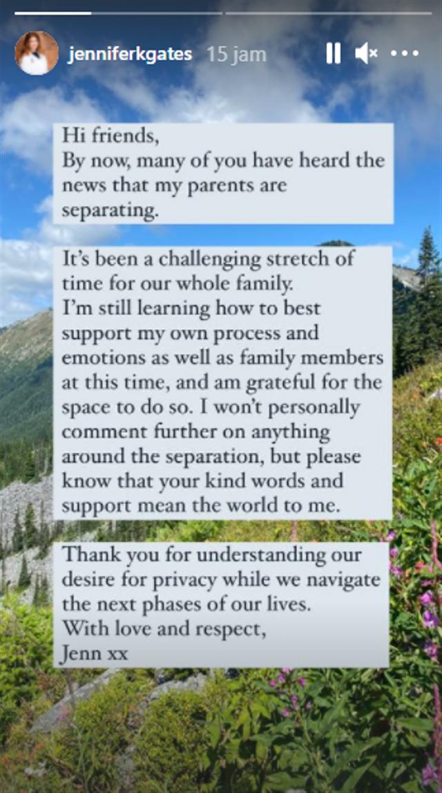Melinda dan Bill Gates Cerai, Anak Pertama: Keluarga Kami Alami Masa Sulit (93937)