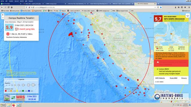 Gempa Bumi Magnitudo 5,8 di Mentawai, Ini Penjelasan BMKG (383018)