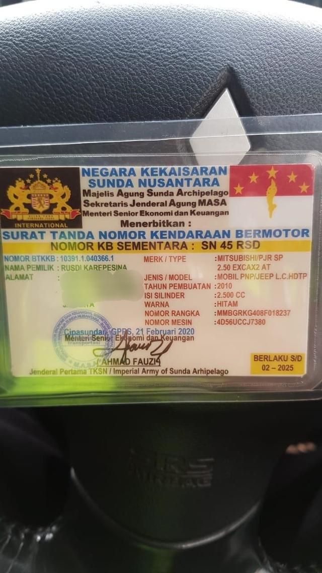 Polisi: Rusdi Jenderal Sunda Nusantara Punya SIM RI, tapi Tak Mau Ditunjukkan (451963)