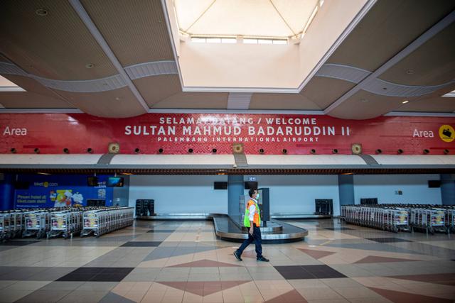 Foto: Sepi di Bandara Sultan Mahmud Badaruddin Palembang Saat Larangan Mudik (222090)