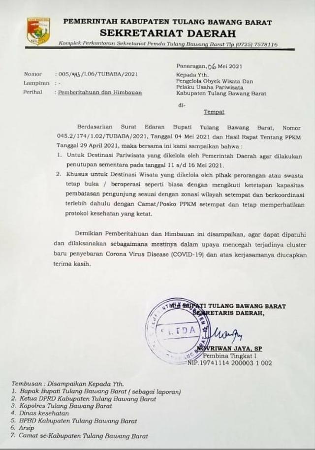 Selama Masa Lebaran, Sejumlah Tempat Wisata di Lampung Ditutup Sementara (97667)