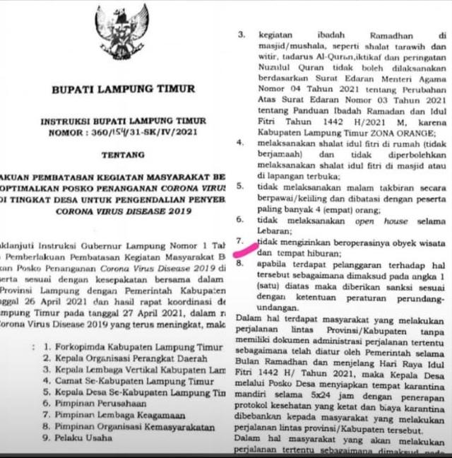 Selama Masa Lebaran, Sejumlah Tempat Wisata di Lampung Ditutup Sementara (97668)